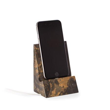 Bey Berk Brown Marble Desktop Phone Cradle