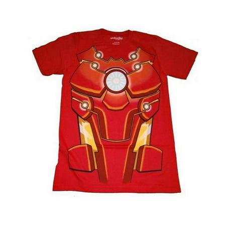 Marvel Iron Man Bleeding Edge Mens Red T-Shirt | L (Icon Mens Shirt)