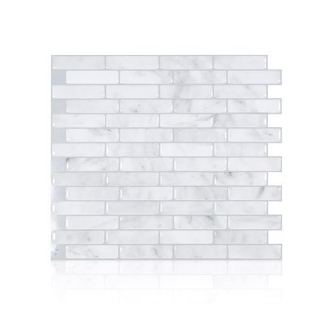 Smart Tiles 10.20 in x 9 in Peel and Stick Self-Adhesive Mosaic Backsplash Wall Tile - Milenza Bari -