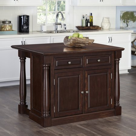 Home Styles Monarch Cherry Kitchen Island And 2 Stools