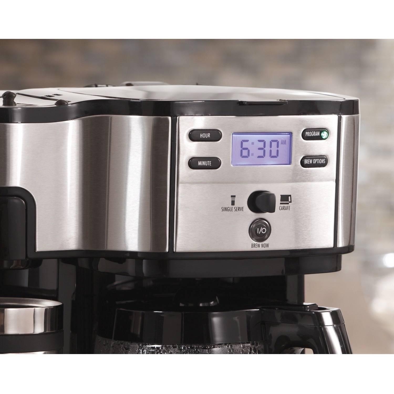Coffee Maker Carafe And Single Cup Hamilton Beach 2 Way Brewer Model 49980z Walmartcom