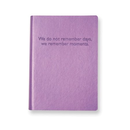 Eccolo Purple Embossed Memories Leather Journal - Lined