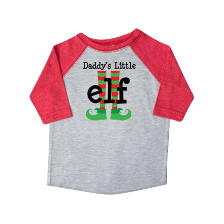 Daddy Little Elf Christmas Holiday Toddler T-Shirt - Toddler Elf