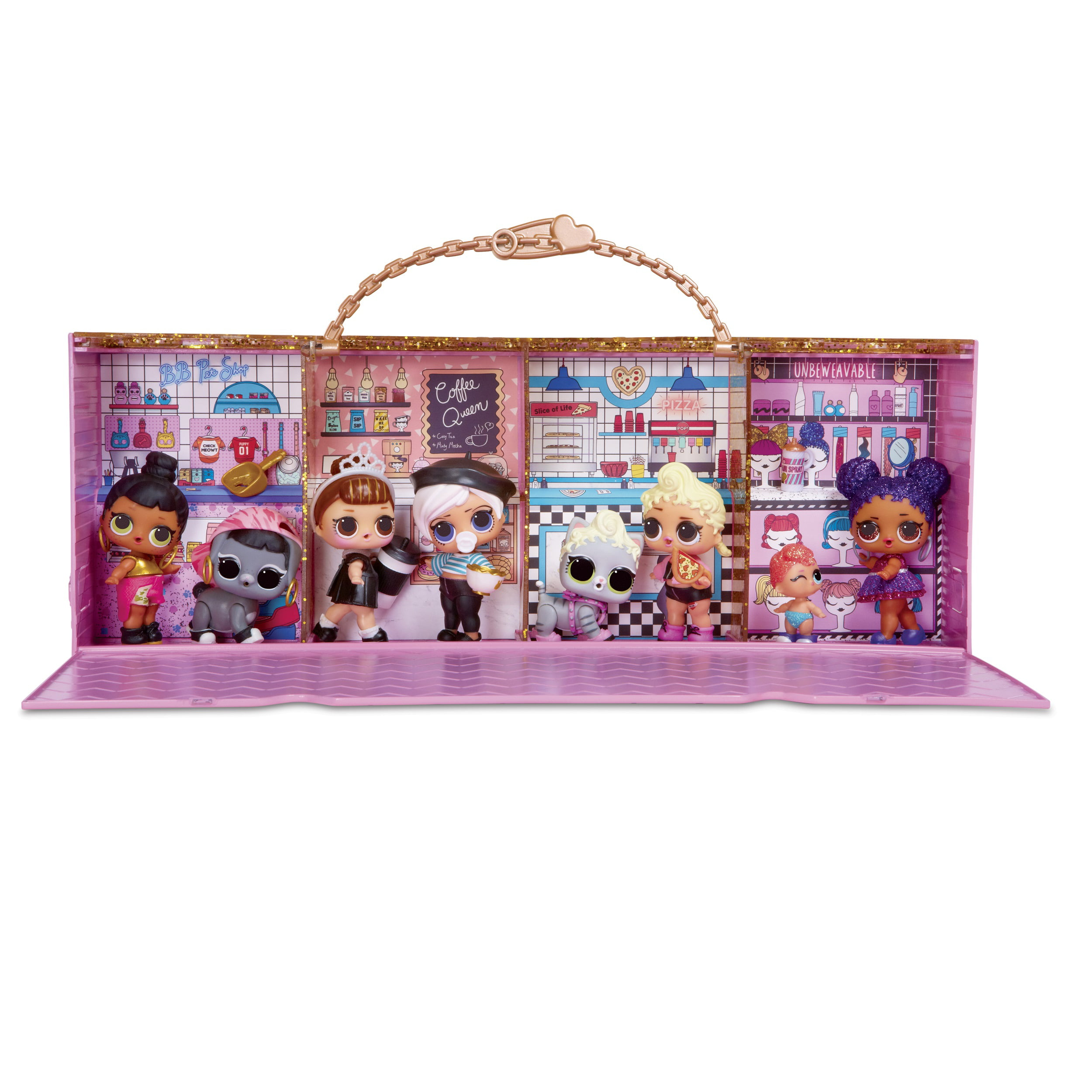 Display with 1 Exclusive 3 in 1 Pop-Up Store L.O.L Surprise Carrying Case