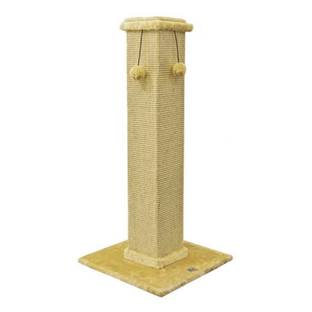 Go Pet Club Cat Tree Furniture 35 in. High Obelisk - Beige