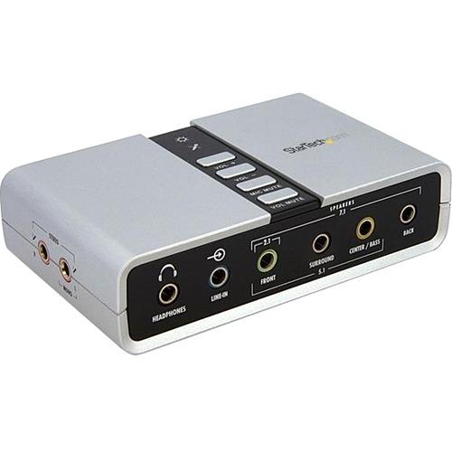 StarTech.com 7.1 USB Audio Adapter External Sound Card with SPDIF Digital Audio