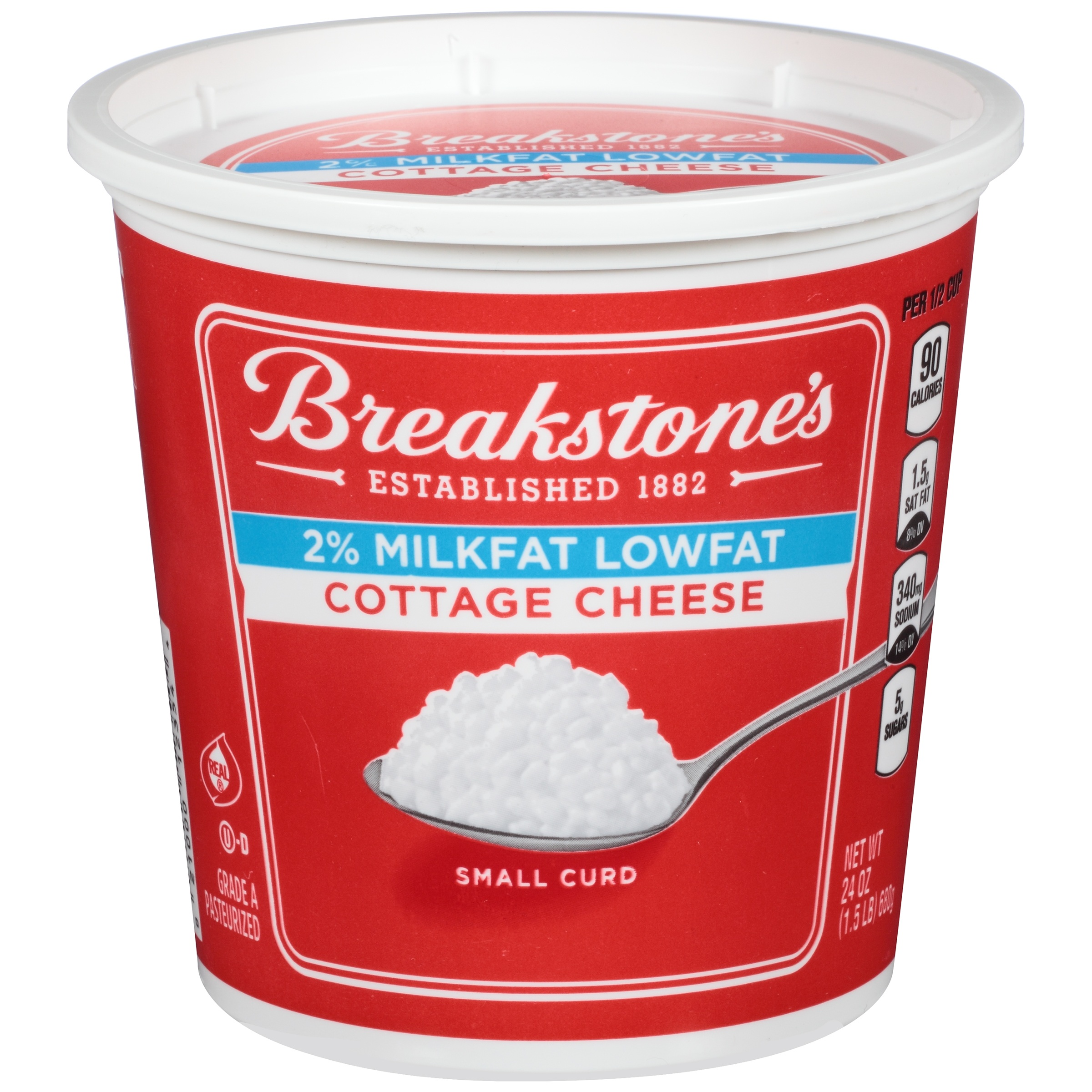 Breakstone's Small Curd Lowfat Cottage Cheese 24 oz. Tub