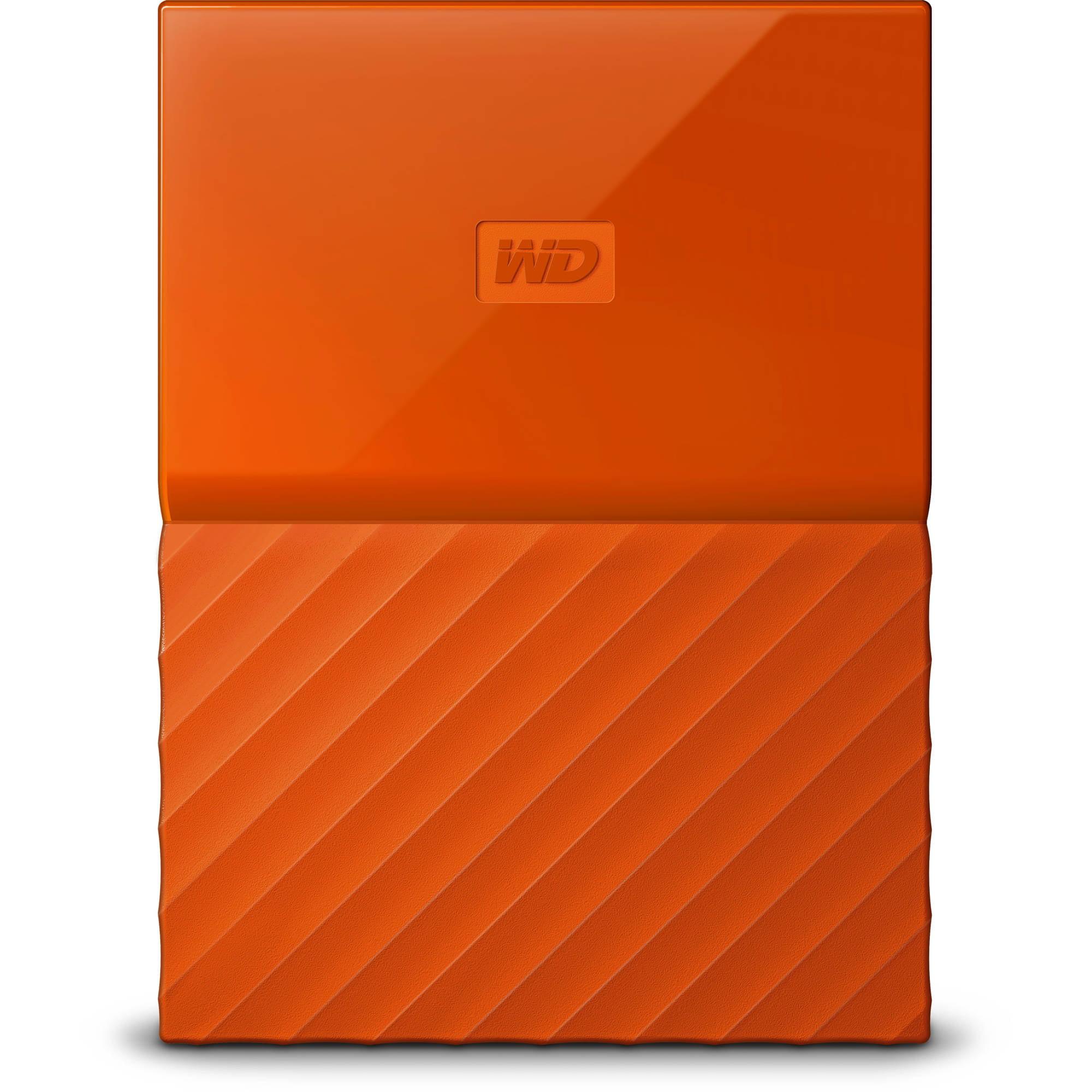 Western Digital My Passport 4TB Portable External Hard Drive, Orange by Western Digital