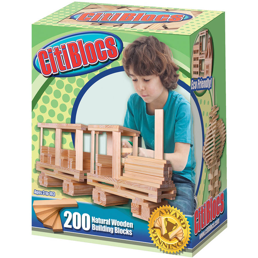CitiBlocs 200-Piece Natural-Colored Building Blocks by Generic