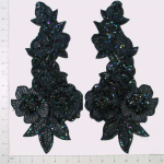 Expo Int'l Multi Flower Sequin Applique Pack of 2