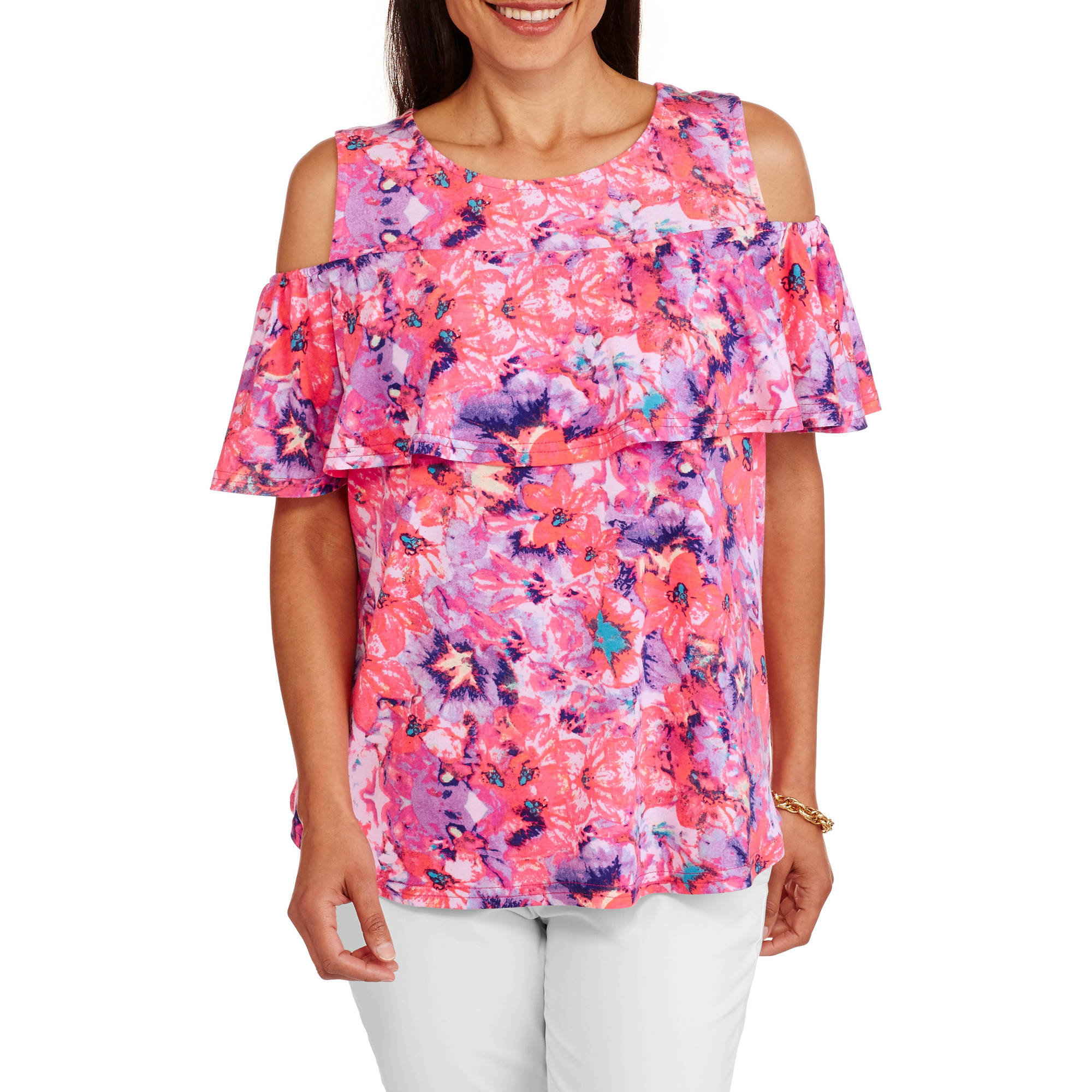 Concepts Women's Convertible Off-the-Shoulder Peasant Top