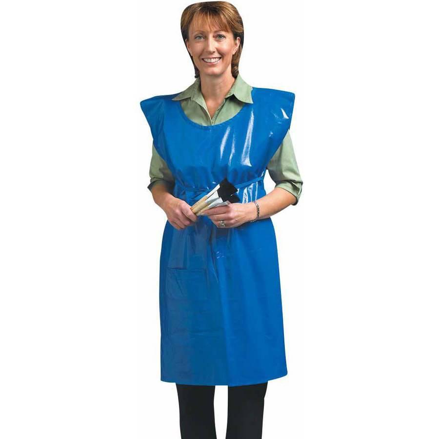 White apron walmart - School Smart Easy To Clean Vinyl Waterproof Adult Art Apron 32 X 20 5 1 Pocket Walmart Com