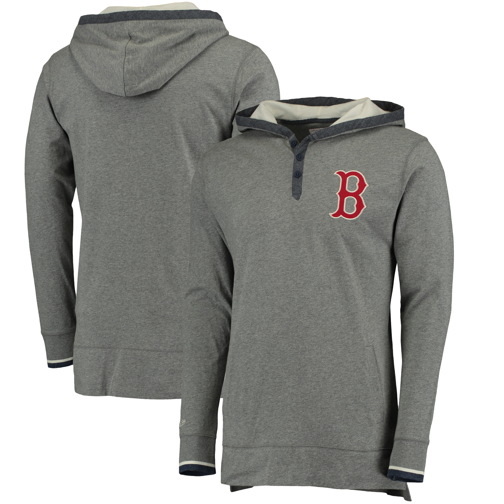 Boston Red Sox Mitchell & Ness Seal The Win Hoodie - Gray