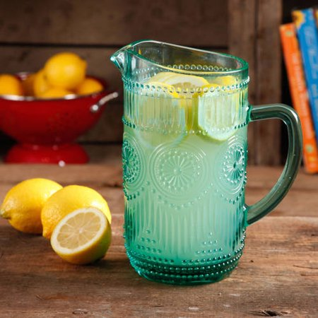 The Pioneer Woman Adeline 1.59-Liter Glass Pitcher Glass Transparent Pitcher