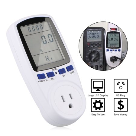 TSV LCD Power Consumption Energy Volt KWH Meter Electricity Monitor Analyzer US