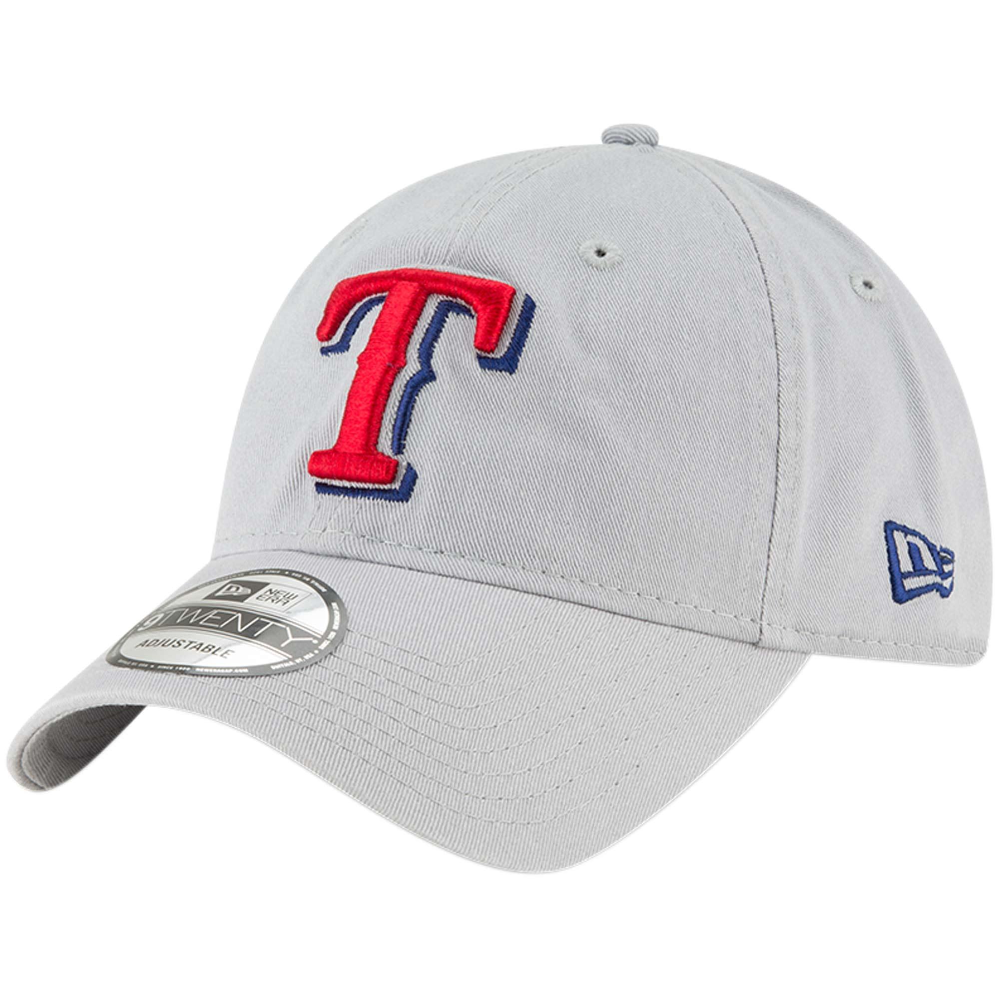Texas Rangers New Era Core Classic Twill 9TWENTY Adjustable Hat - Gray - OSFA