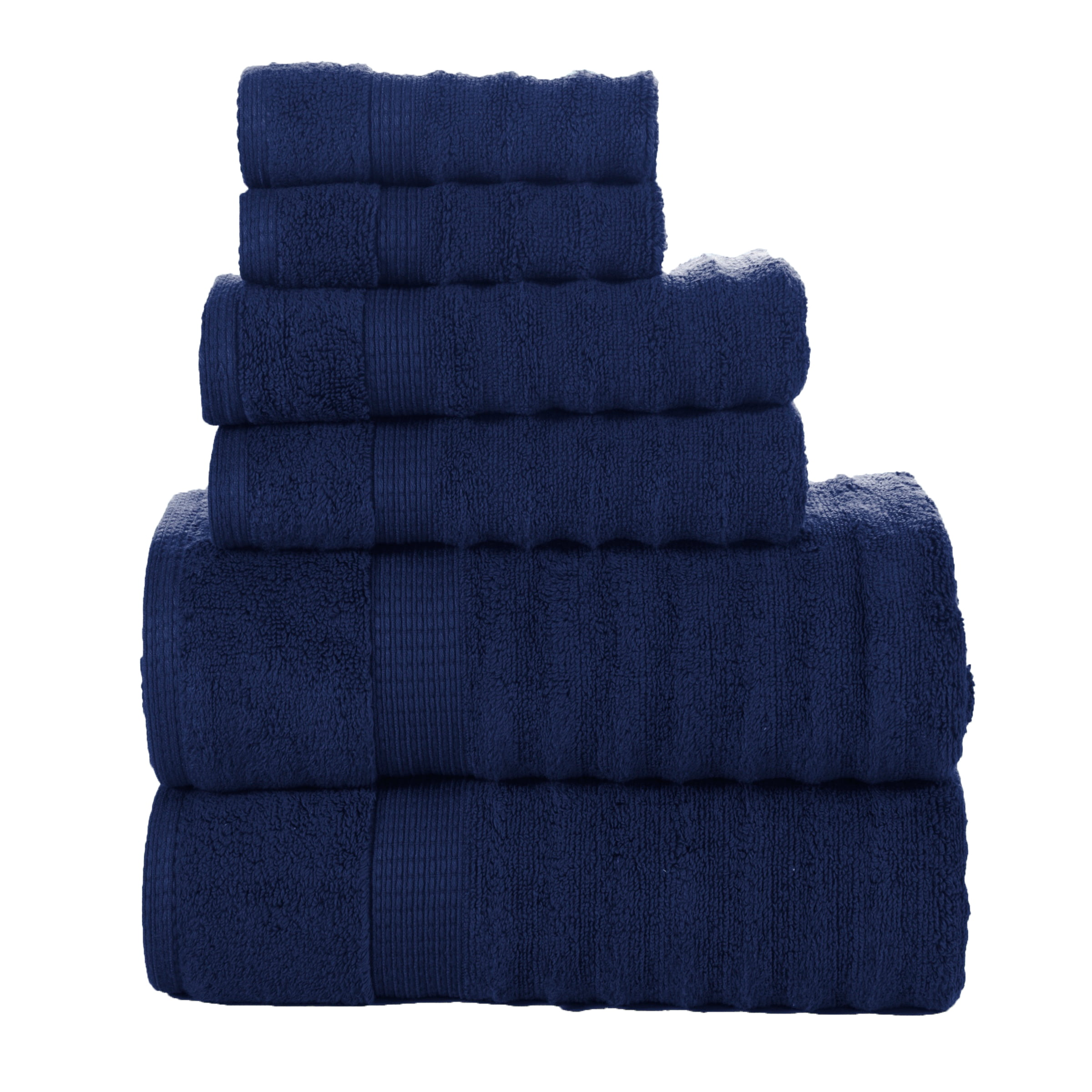 Quick Dry-Elegance Spa 100-percent Egyptian Cotton Ribbed 6-piece Towel Set by Affinity Linens