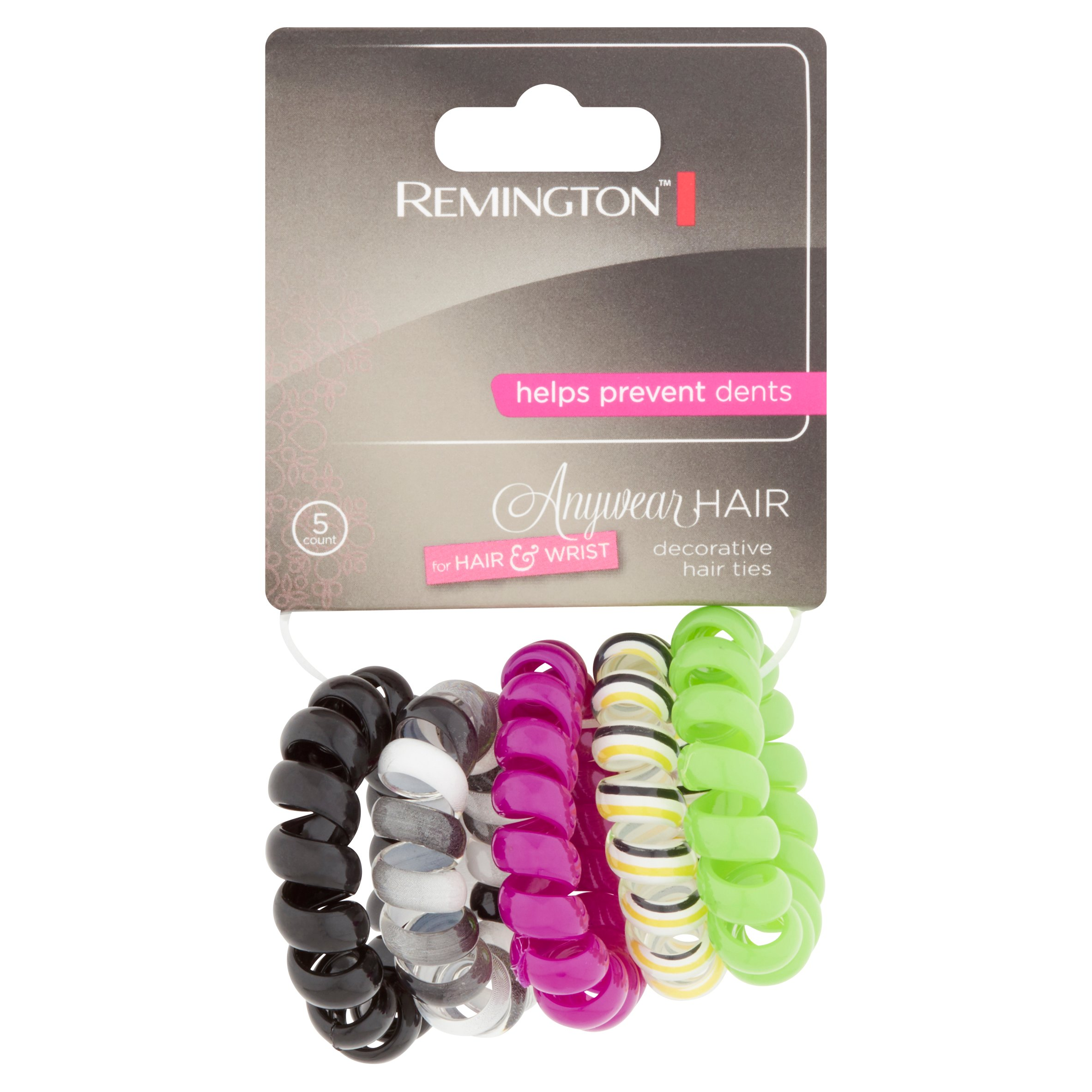 Remington Anywear Hair Decorative Hair Ties, 5 count