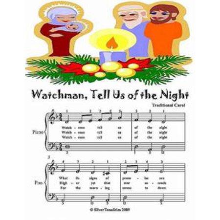 Watchman Tell Us of the Night - Easiest Piano Sheet Music Junior Edition - eBook - Halloween Night Piano Sheet Music