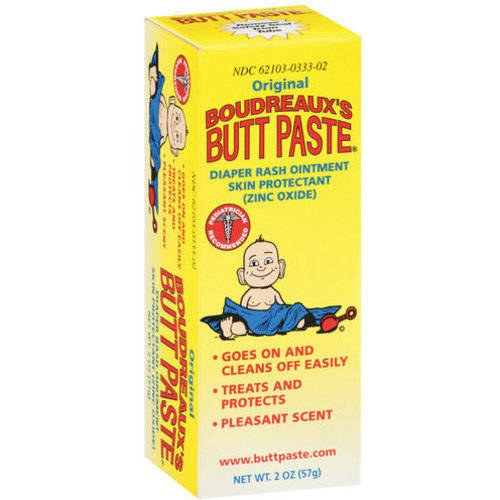 Boudreaux's Original Butt Paste Diaper Rash Ointment, 2 oz