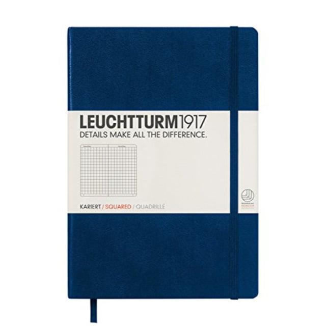 Leuchtturm Hardcover Medium A5 Squared Notebook [Navy]