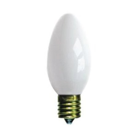 Pack of 4 Opaque Ceramic White C9 Christmas Replacement (Ceramic Christmas Tree Replacement Lights Hobby Lobby)