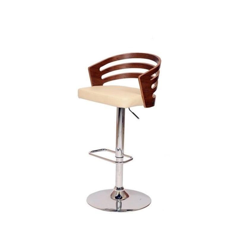 Armen Living Adele Swivel Barstool in Cream - image 1 de 1
