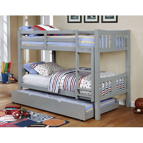Harriet Bee Victory Twin Over Twin Bunk Bed with Trundle