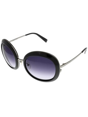 690cb95499ea Product Image Giorgio Armani Sunglasses Womens GA 578 K S TCBDG Shiny Grey  Ruthenium Round Size