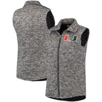 Miami Hurricanes Women's City Chic Quilted Vest - Heathered Gray