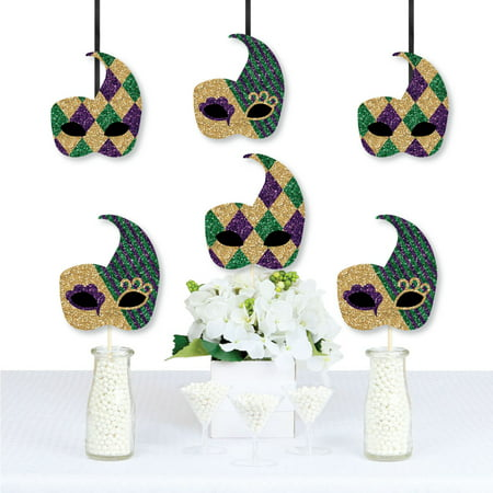 Mardi Gras - Mask Decorations DIY Masquerade Party Essentials - Set of 20 - Mardi Gras Decorations Clearance