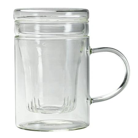 Primula Glass - Primula 12 oz. Borosilicate Glass Personal Tea Brewer with Loose Tea Infuser and Flowering Tea