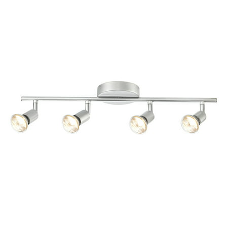 Globe Electric Payton 4-Light Matte Silver Track Lighting Kit, 58932