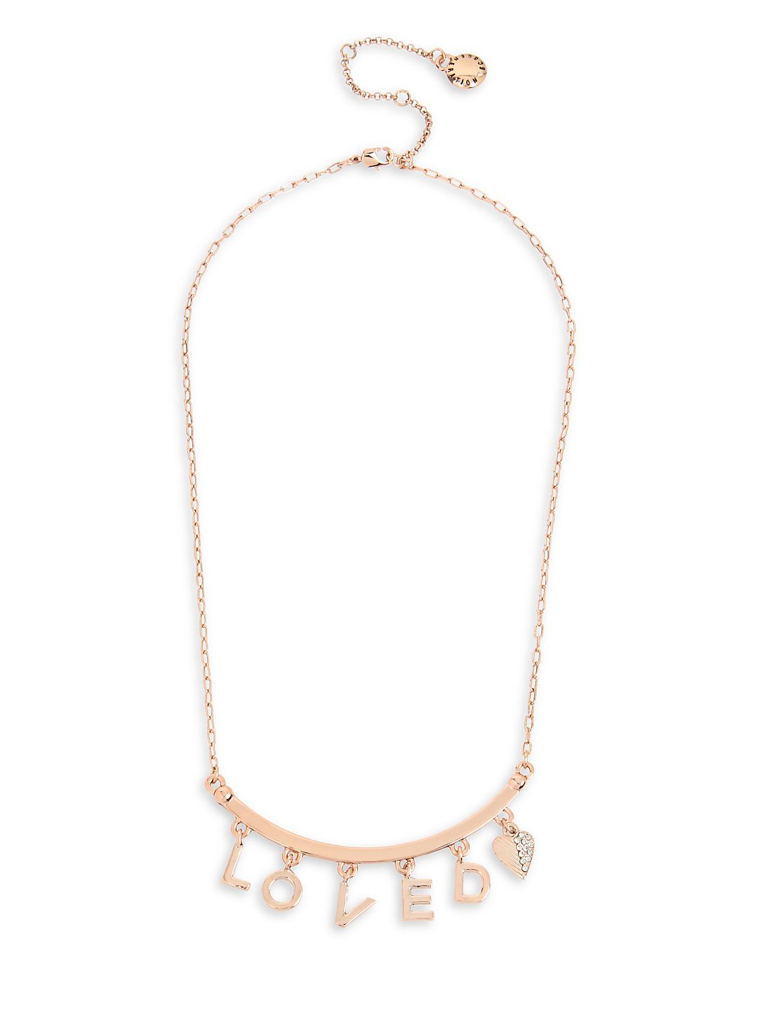 LOVED Boxed Rose-Goldtone Frontal Necklace