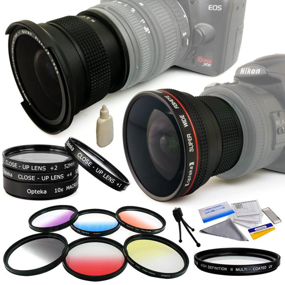 Opteka Pro .20x + .35x Fisheye Lens + UV Filter + Close U...