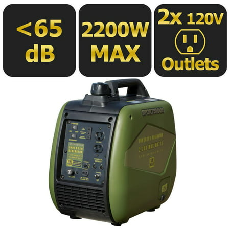 Hand Crank Power Generator - Sportsman 2200-Watt Gasoline Powered Recoil Start Portable Digital Inverter Generator with Parallel Capability - CARB Approved