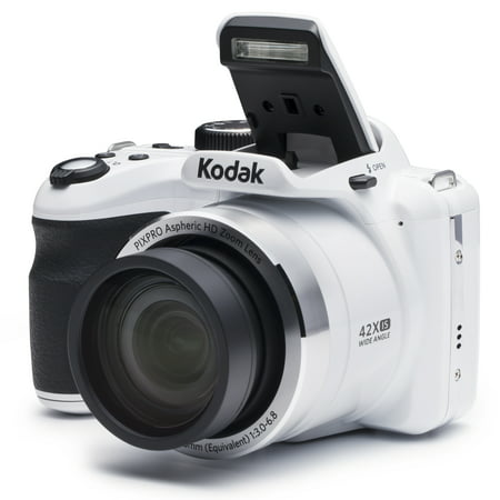 KODAK PIXPRO AZ421 Bridge Digital Camera - 16MP 42X Optical Zoom HD720p (White) (16mp Digital Camera)