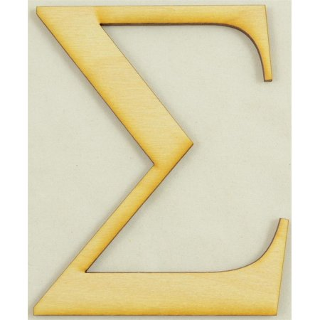 1 pc 3 inch x 14 thick sigma greek letter for wood craft project 1 pc 3 inch x 14 thick sigma greek letter for wood publicscrutiny Image collections