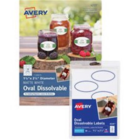 Avery AVE4226 Etiquettes solubles ovales, blanches - image 1 de 1