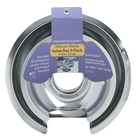Range Kleen 5 Piece Drip Pan Style D Fits Hinged Electric