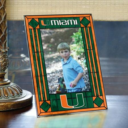 Miami Hurricanes Art-Glass Picture Frame - No -