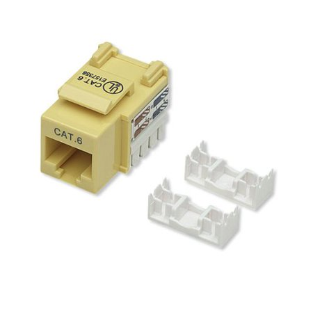 Intellinet Network Solutions 210584 Cat 6 Keystone Jack  Yellow