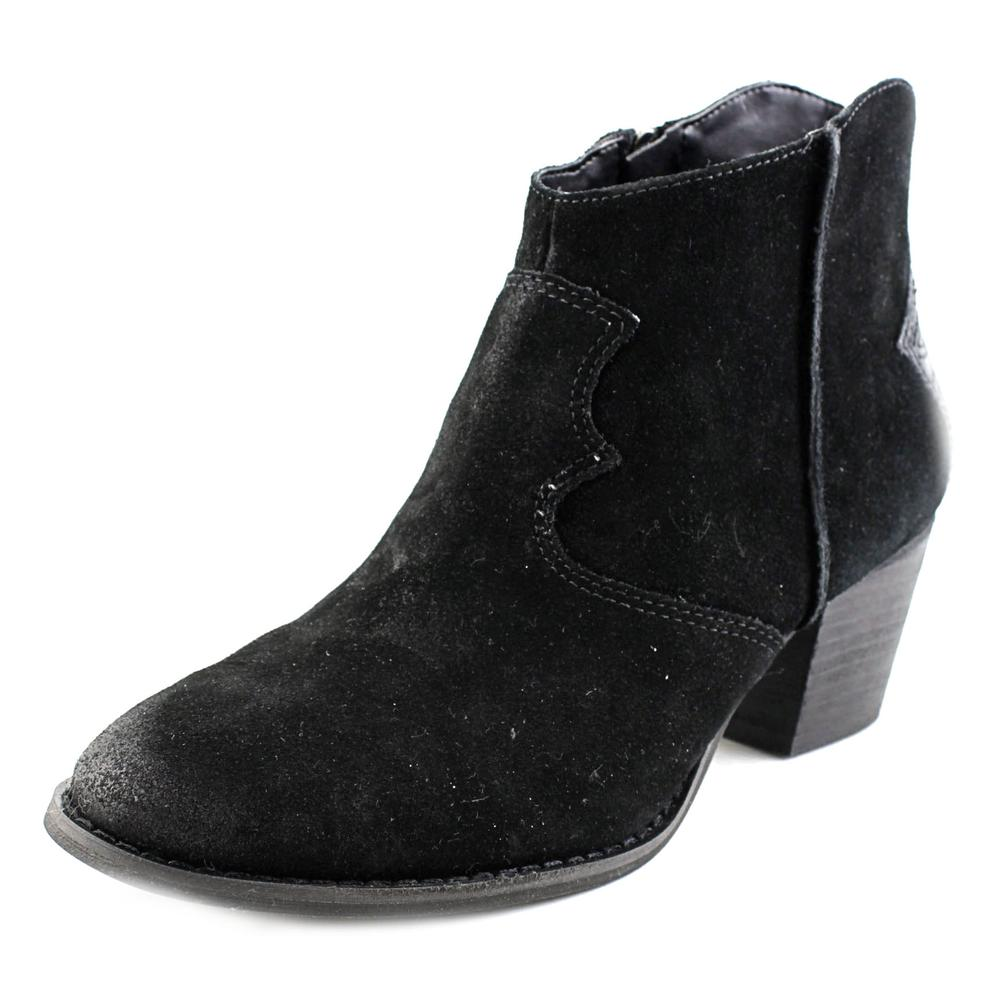 Marc Fisher Stefani Women Round Toe Leather Black Bootie by Marc Fisher