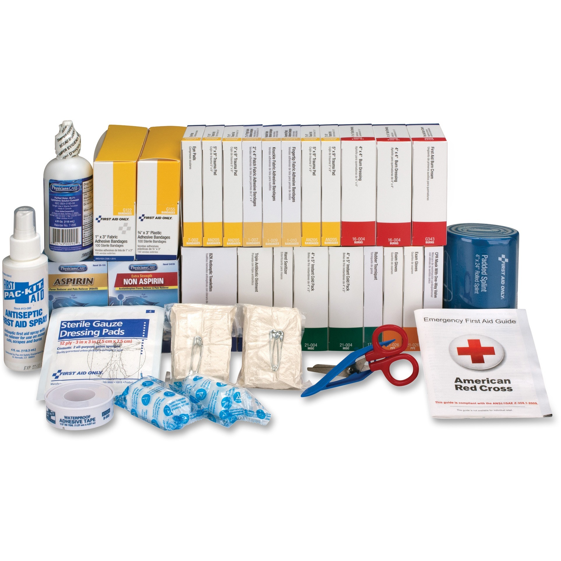 First Aid Only, FAO90618, First Aid Only 446-Piece ANSI Bplus Refill Kit, 1 Each, White,Blue