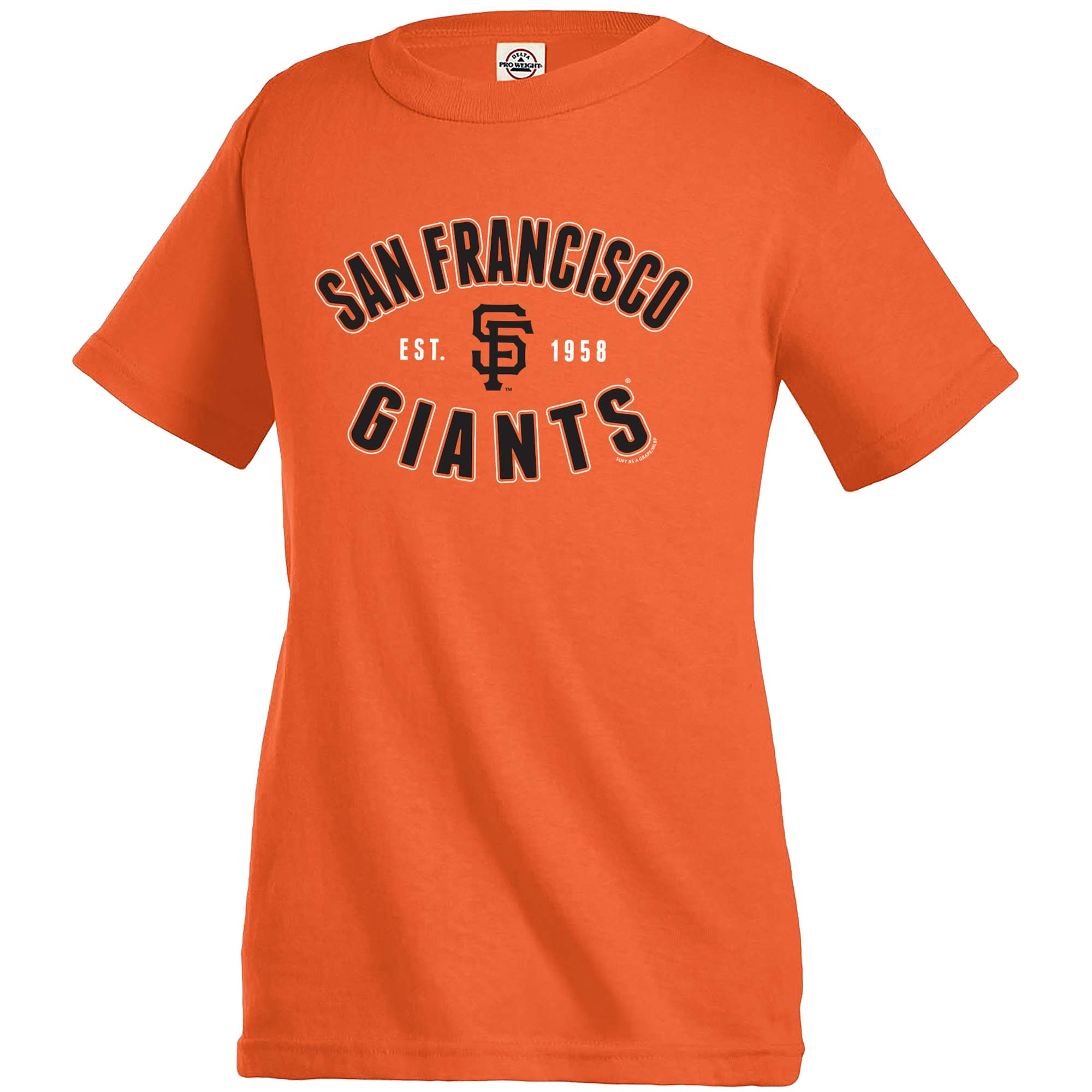 San Francisco Giants Soft as a Grape Youth Cotton Crew Neck T-Shirt - Orange