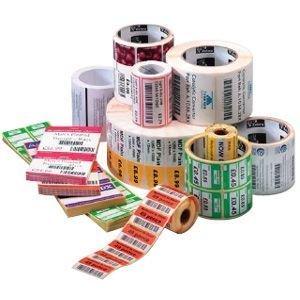 Zebra Label Paper 2.25 x 2.5in Direct Thermal Zebra Z-Select 4000D High Perfor 1 in core - 2.25