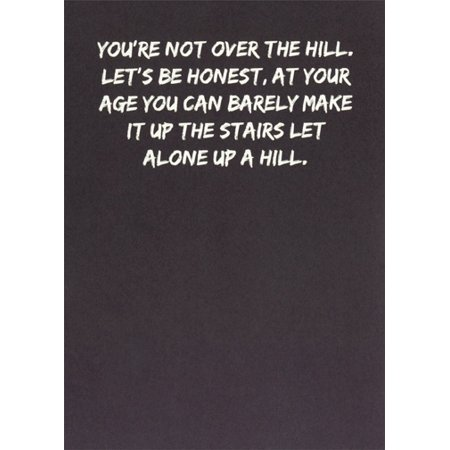 Over The Hill Gifts (Recycled Paper Greetings Not Over the Hill Funny / Humorous Birthday)