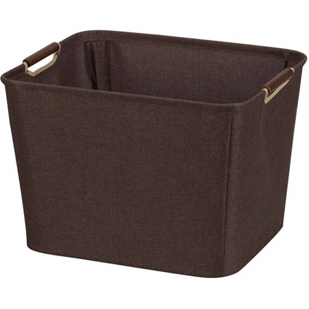 Household Essentials Coffee Linen Collection Tapered Bin