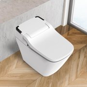 VOVO Stylement TCB-090SA Integrated Smart Toilet, Bidet Seat Toilet, Elongated One Piece Toilet with Auto Open/Close Lid