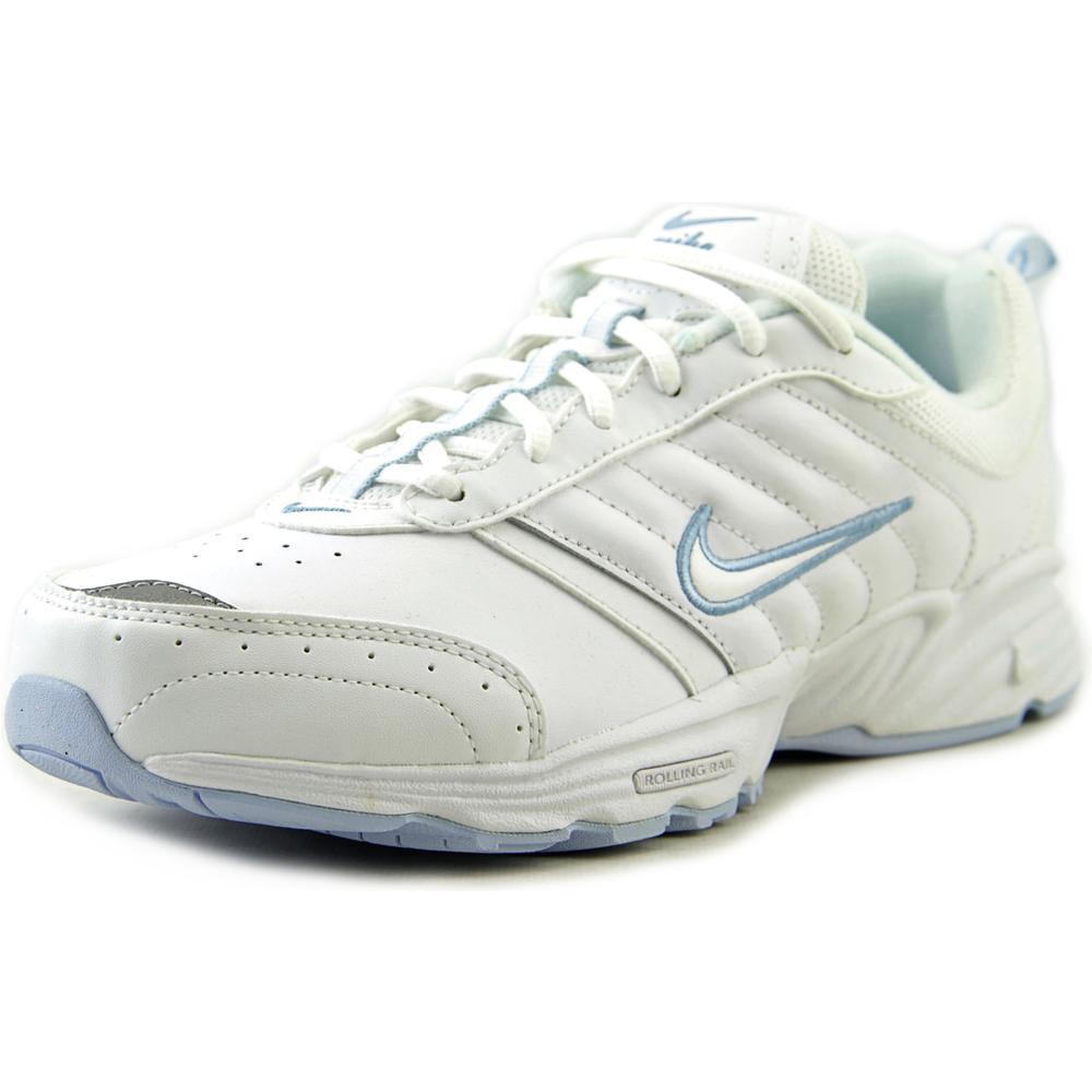 nike view ii toe leather white walking shoe